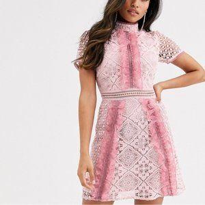 True Decadence Petite ruffle front mini dress
